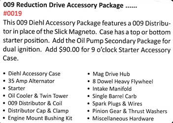 0019 / 009 Reduction Drive Accessory Package