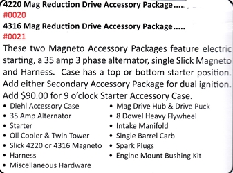 0020 / 4220 Mag Reduction Drive Accessory Package