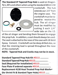 0112 / Standard Tapered Prop Hub