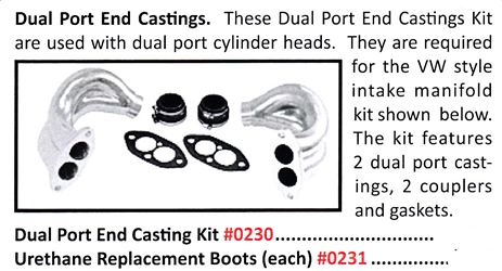 0230 / Dual Port End Castings